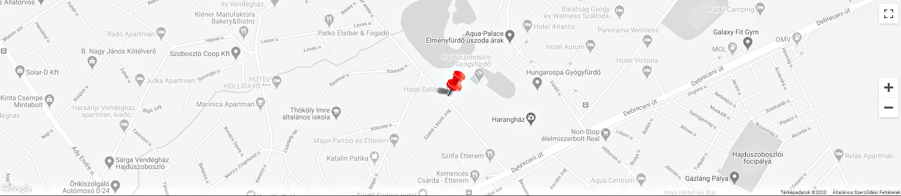 Hotel Délibáb Hajdúszoboszló - térkép